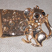 Vintage Mouse Belt Buckle