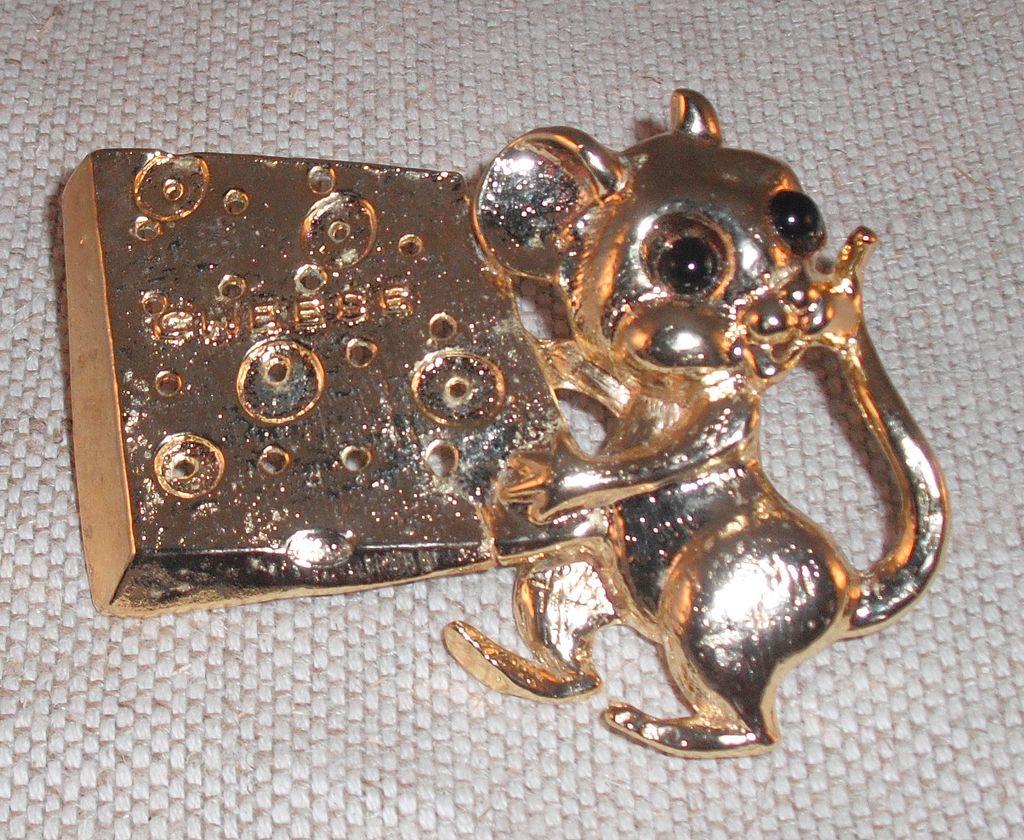 Vintage Mouse Belt Buckle