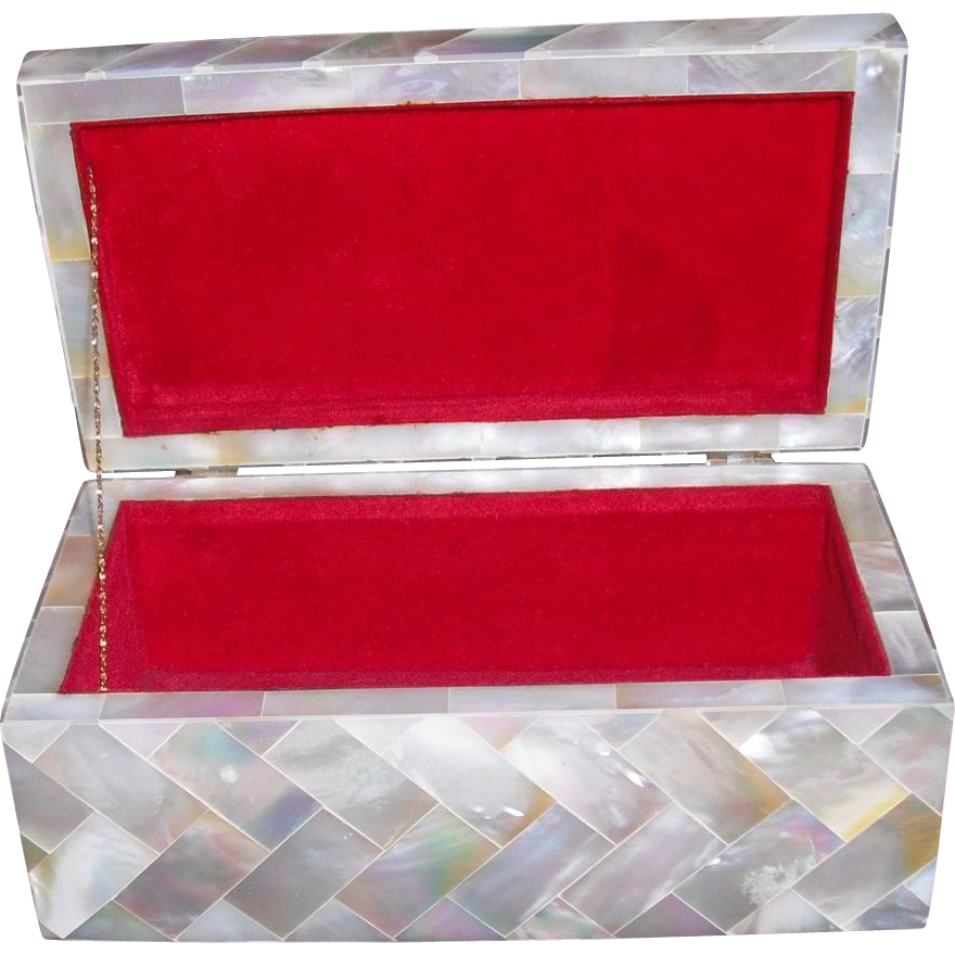 Vintage Mother of Pearl Box