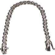 Vintage Sterling Silver Bracelet with Cubic Zirconias