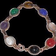Vintage Semi-Precious Scarab Bracelet
