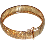 Vintage Vermeil Bangle with Clasp 7.5 inches