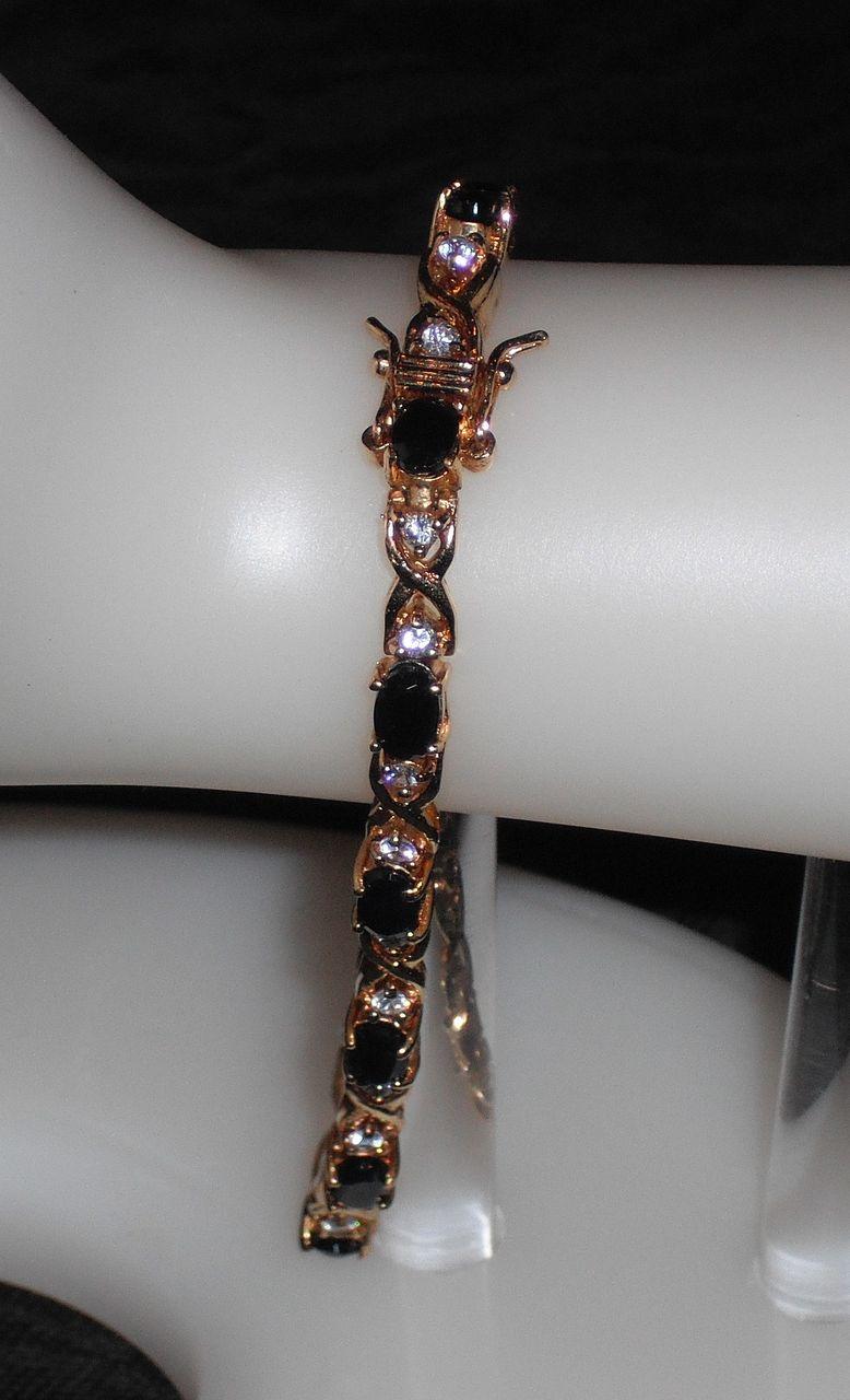 Vintage .925 Gold Vermeil Bracelet with Sapphires