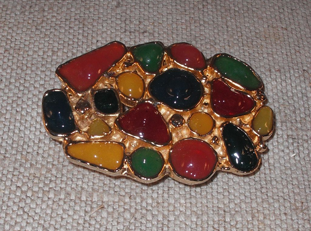 Oval Multi Colored Belt Buckle by MUSI