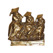 Vintage Wise Owl Bookends by Jennings Bros.