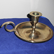 Vintage Wee Willie Winkie Style Brass Taper Candle Holder