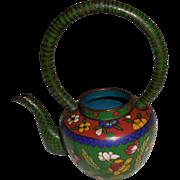 Vintage Asian Cloisonné Miniature  Teapot