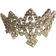 Prong Set Rhinestone Tiara Comb Crown Wedding Prom