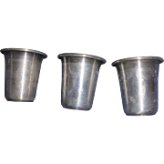 Sterling Shot Glasses - 3