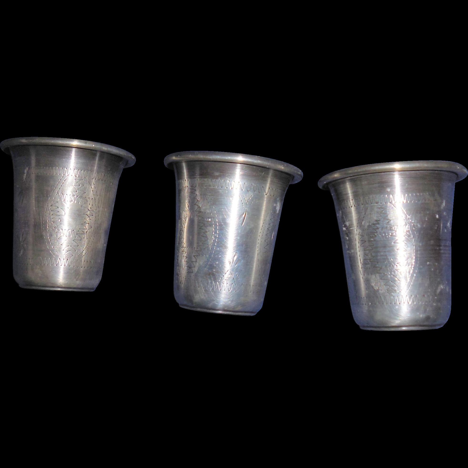 Sterling Shot Glasses - 3