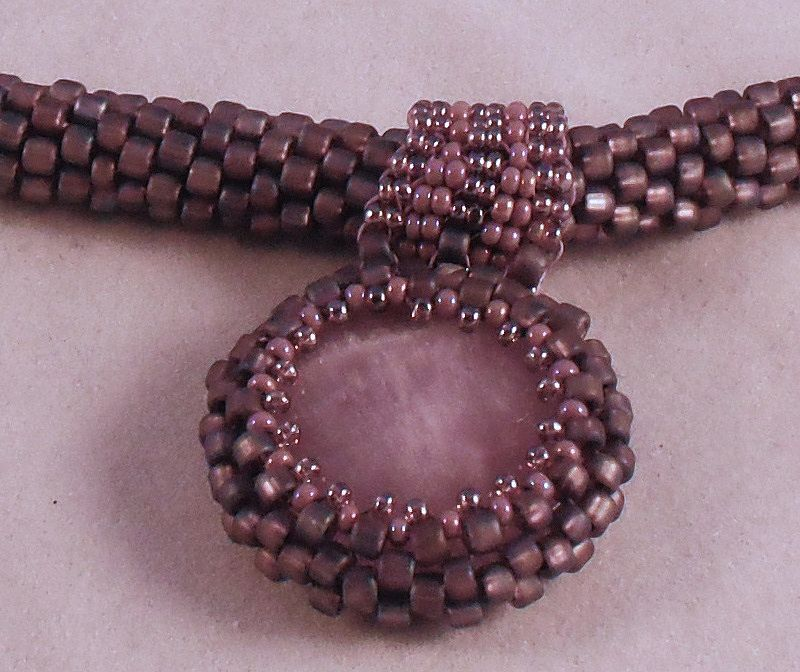 Handmade Light Purple (Lavender) Seed Bead Necklace