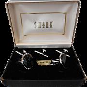 Swank Onyx Tuxedo Set in Original Box