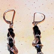 Hematite and Jet Earrings