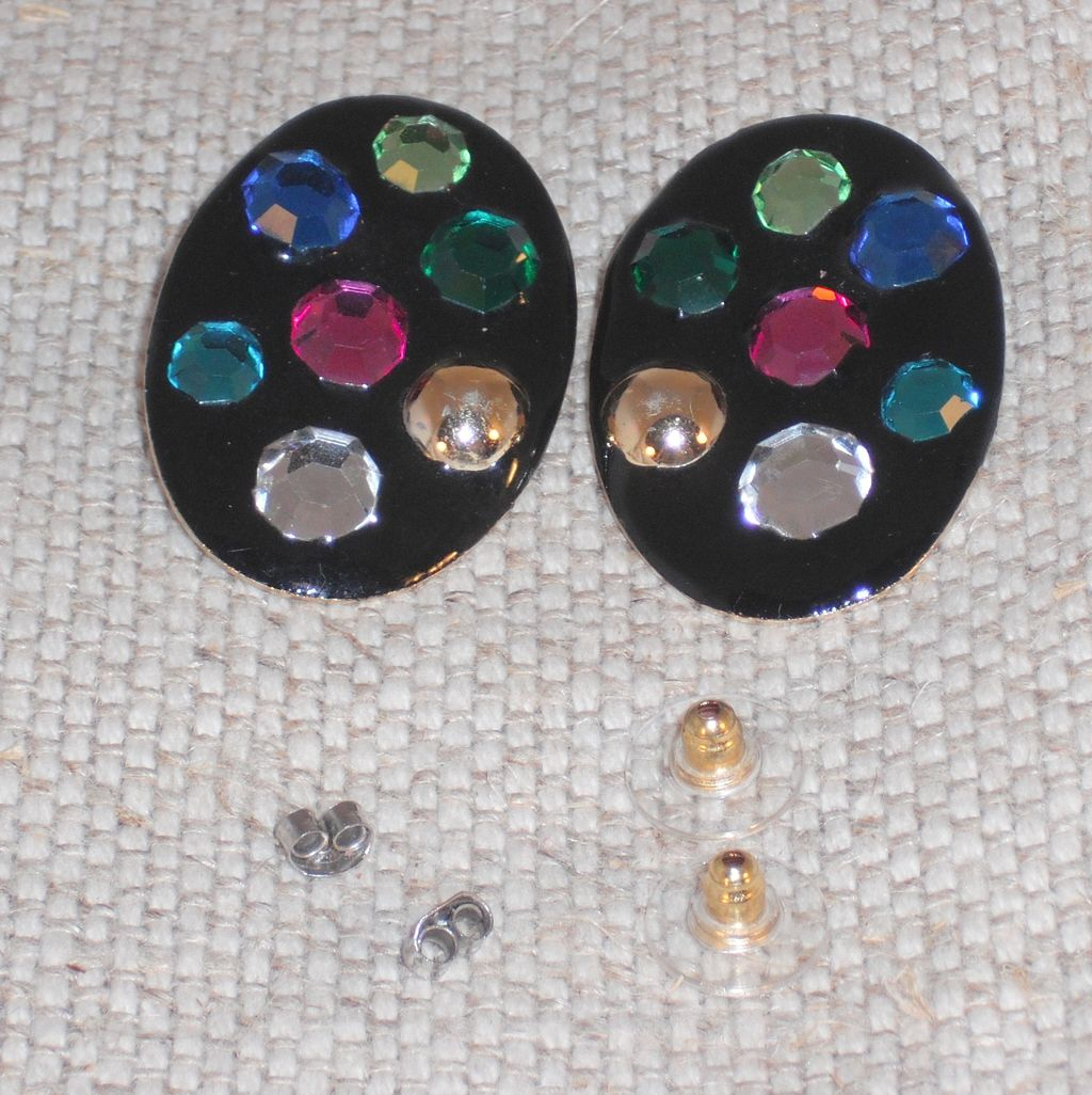 Fernella's of New York Vintage Bling! Pierced Earrings