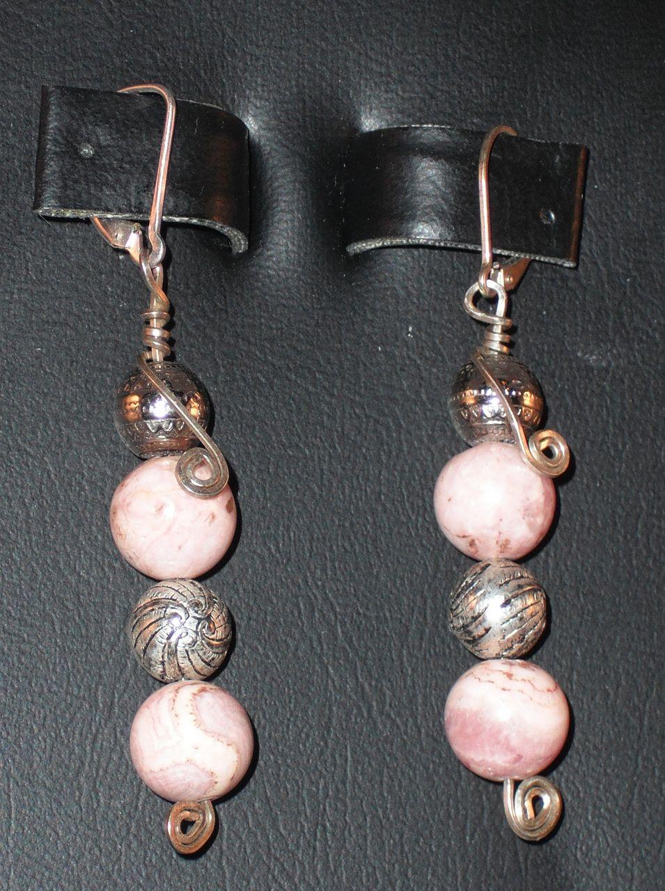 Handmade Rhodonite Earrings