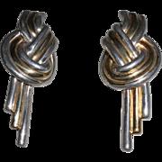 Vintage Sterling Vermeil Earrings Pierced