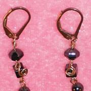 Longer Hematite Earrings