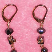 Handmade Longer Hematite Earrings