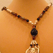 Double Sided Faux Ivory Necklace