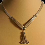 "Forstner Gold Filled Gold Mesh 'Y' Necklace with Dangles – 14.75"" + 3.25"""