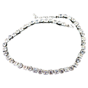 Monet Bezel Set Multi Shaped Rhinestone Necklace-17.375""