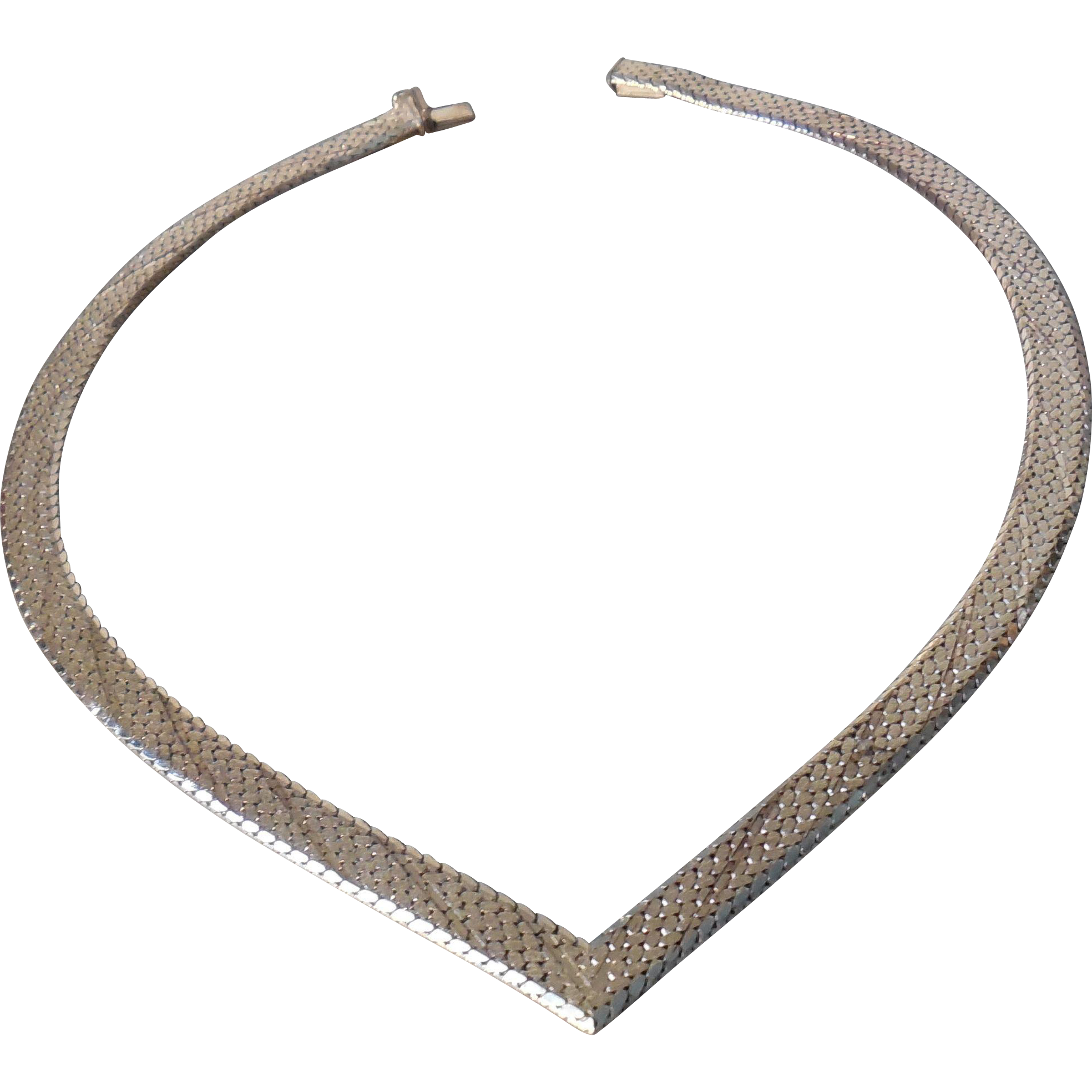 Vintage Sterling Necklace with V