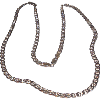 Vintage Italian Sterling Silver Chain Necklace