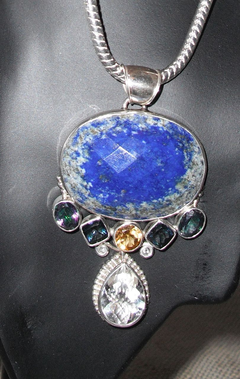 Vintage Lapis Lazuli and Sterling Silver Necklace