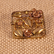 Three Tone Metal Vintage Pin