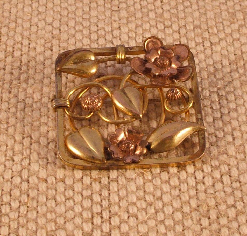Three Tone Metal Vintage Pin