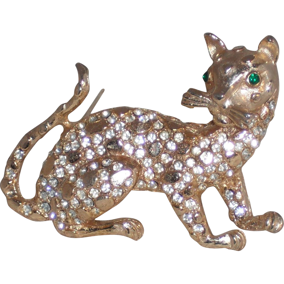 Three Dimensional Leopard Pin/Brooch