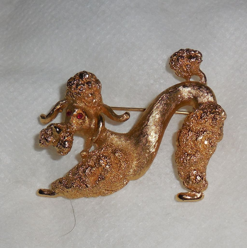 French Poodle Pin by Monet