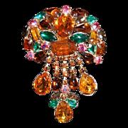 Juliana Multi-Colored Pin with Dangles