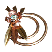 Harry Iskin 40's Gold Filled Floral Pin