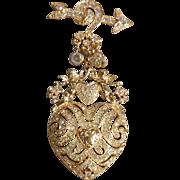 Kirks Folly Heart Pin Brooch