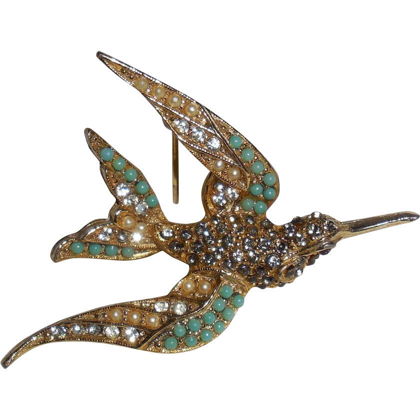 Vintage Bird in Flight Pin Brooch by Art Mode