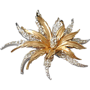 Vintage Stunning Gold and Silver Plated Boucher Brooch Pin