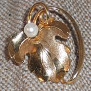 Forstner Gold Filled Vintage Leaf Pin