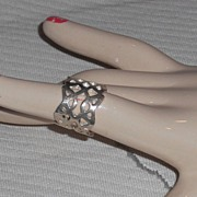 Sterling Ring with Openwork - size 7.5