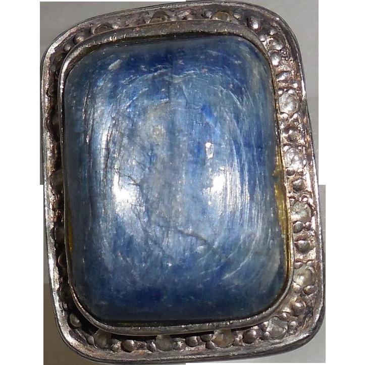 Vintage Angelique de Paris Ring size 6 Iolite White Topaz  Sterling Resin