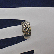 Marcasite and Sterling Ring size 7.5