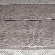 Vintage Taupe Reptile Printed Leather Wallet/Clutch Purse