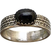 Black Star Diopside Sterling Silver Ring