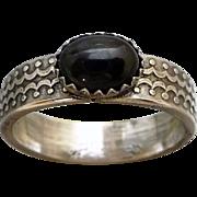 Black Star Diopside Sterling Silver Ring