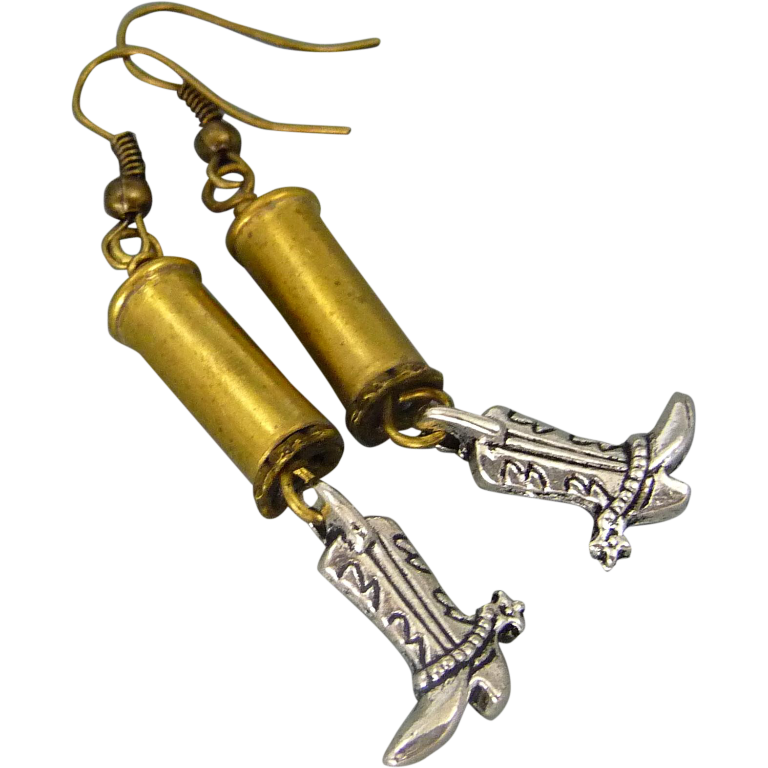 Re Purposed Bullet Shell Earrings With Cowboy Boots