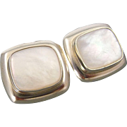 Vintage Sterling Silver Moonstone Post Earrings From Great Falls MetalWorks