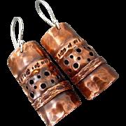 Fold Formed Copper Earrings