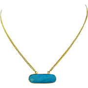 Turquoise Gold Plated Layering Necklace