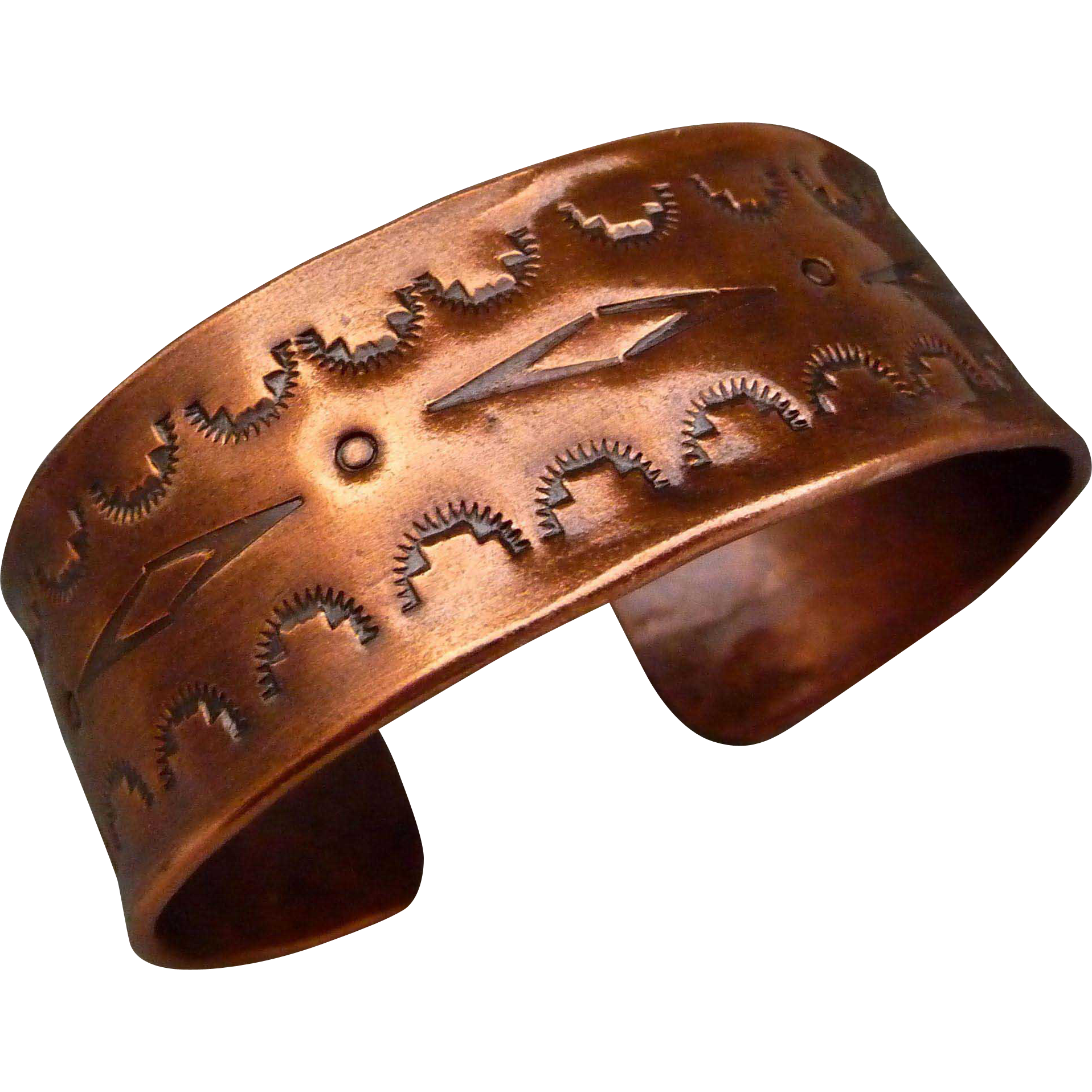 Hand stamped Copper Cuff Bracelet