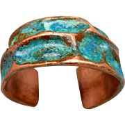 Copper Patina Cuff Bracelet